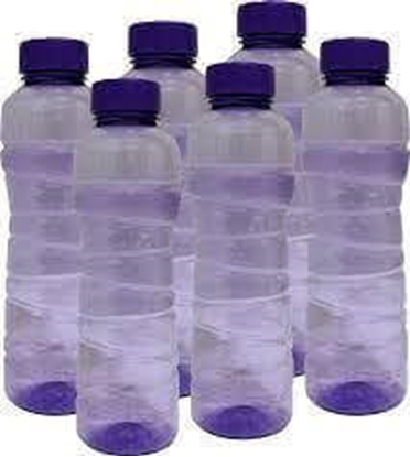 Picture of Pearlpet Fridge Water Bottles - 1 Ltr (Pack Of 6)
