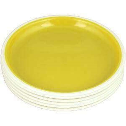 Picture of Nayasa Round Colored Plastic Full Plate - 6 Pcs