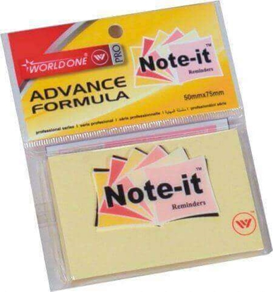 Picture of WORLDONE Note-It Reminder Pads 75x75 MM