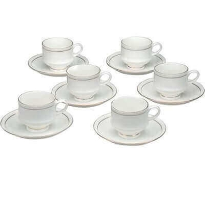 Clay Craft Mona 110 Gold Line Cup and Saucer set of 6