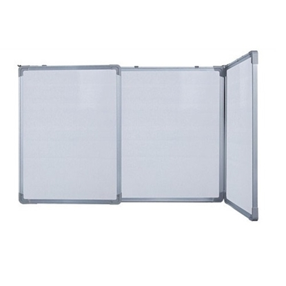 3 Side Foldable White Board Non Magnetic 2' X 4' With 2' X 2' Front Panels