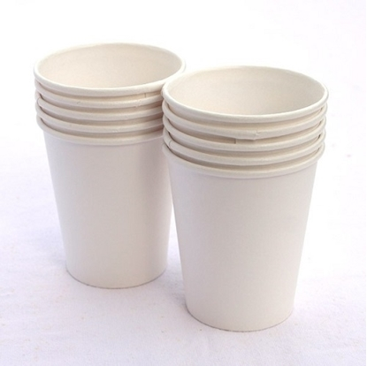 Plain White Paper Cups 200 Ml - Pack Of 100