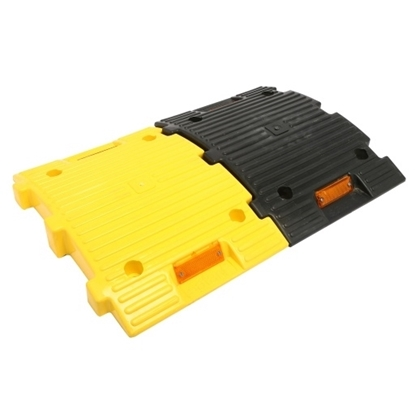 Plastic Safety Speed Breaker - 1 Mtr (4*250*350*50 mm) Yellow Black