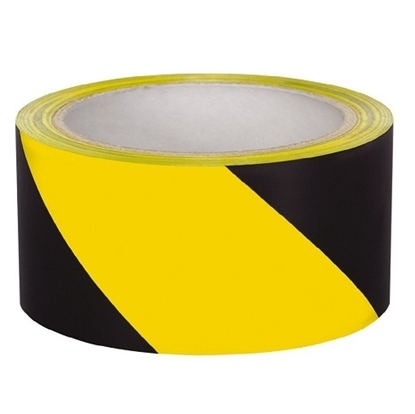 Yellow Black Safety Tape 2""