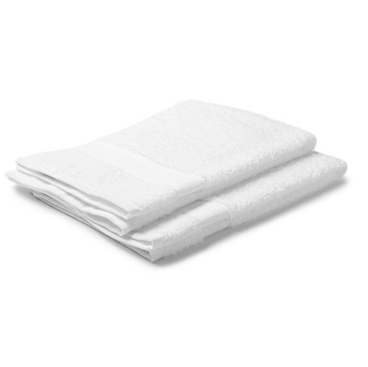 Bombay Dyeing Cotton White Hand Towel - Pack of 12