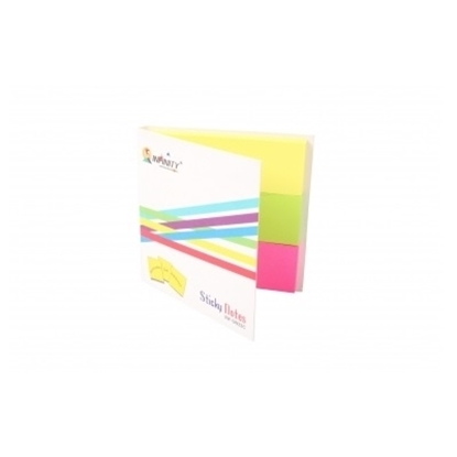"Infinity Sticky Notes Multi Color 3x1""X3"""